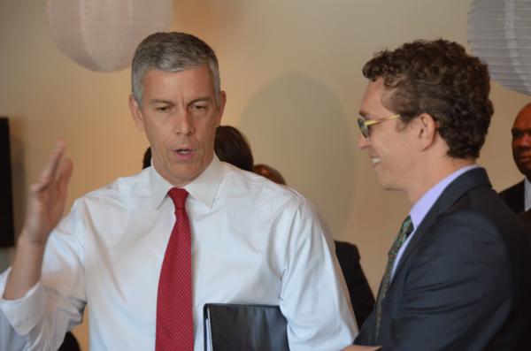 US Secretary of Education Arne Duncan & NACEP Executive Director Adam Lowe