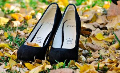 high heel shoes outside