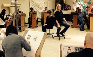 drawing workshop at Jamestown CC
