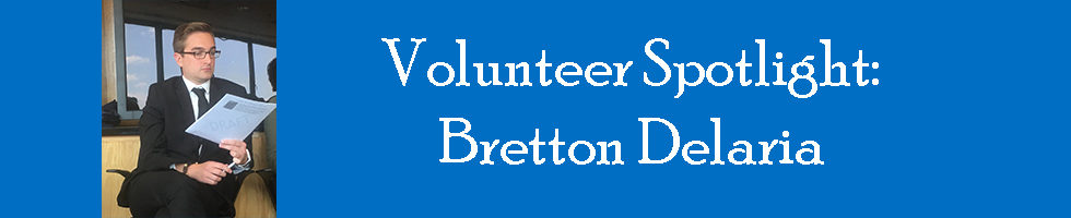 Brett Delaria Volunteer spotlight banner