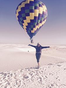 Devonna James at White Sands NM